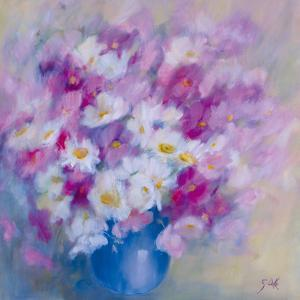 Cosmos et Marguerites by Genevieve Dolle