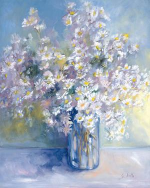 Delphiniums and Daisies by Genevieve Dolle