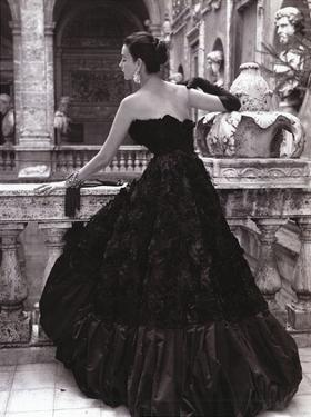 Black Evening Dress, Roma 1952 by Genevieve Naylor