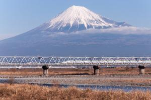 Train and Mt. Fuji by GenPi Photo
