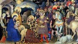 Adoration of the Magi (Detail) by Gentile Da Fabriano