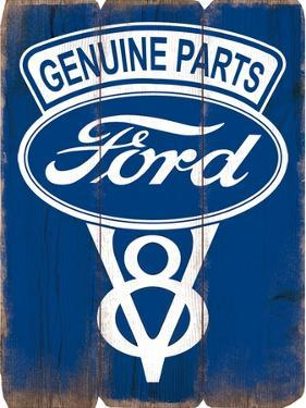Genuine Ford Parts MDF Plank Sign
