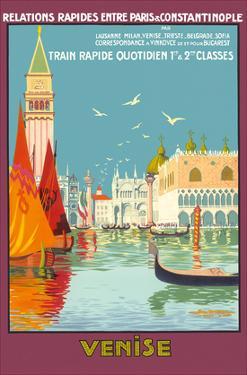 Venice (Venise), Italy - Venetian Grand Canal - Fast Train Daily by Geo Dorival
