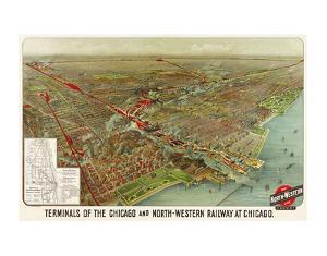 Terminals of the Chicago and North-Western Railway at Chicago, 1902 by Geo H. Walker and Co.