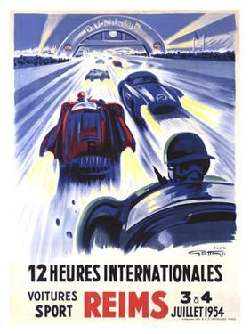 12 Heures International Reims, 1954 by Geo Ham