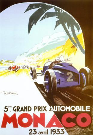 5th Grand Prix Automobile, Monaco, 1933 by Geo Ham