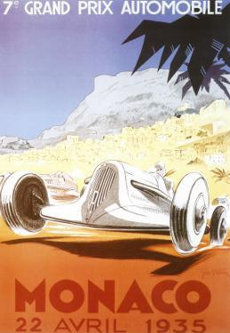 7th Grand Prix Automobile, Monaco, 1935 by Geo Ham