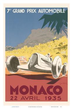 7th Grand Prix Monaco 1935 - Formula One Auto Racing by Géo Ham