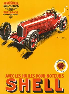 Shell Motor Oils - Racing Cars by Géo Ham