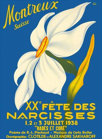 Montreux, Suisse (Montreux, Switzerland) - 1938 XX Fête des Narcisses (20th Narcissus Festival)