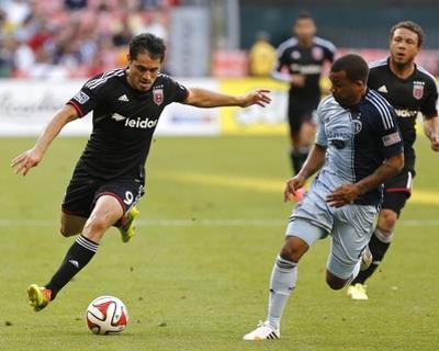 May 31, 2014 - MLS: Sporting KC vs D.C. United - Fabian Espindola, Kevin Ellis