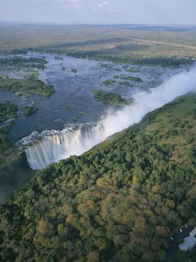 Aerial View of the Victoria Falls, Unesco World Heritage Site, Zimbabwe, Africa by Geoff Renner