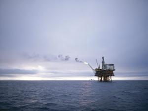 Berylfield Oil Drilling Rigs in the North Sea, Europe by Geoff Renner