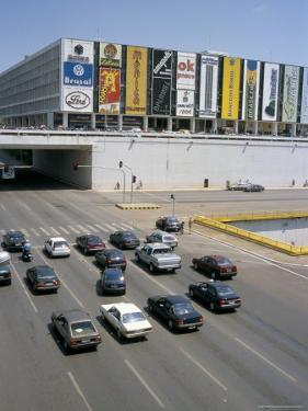 Downtown, Main Thoroughfare and Shopping Mall, Brasilia, Brazil, South America by Geoff Renner