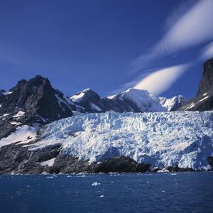 Glacier Flow Reaching the Edge of the Drygalski Fjord, South Georgia Islands, Polar Regions by Geoff Renner