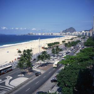 Overlooking Copacabana Beach, Rio De Janeiro, Brazil, South America by Geoff Renner