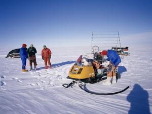 Oversnow Geophysical Team of the British Antarctic Survey, Antarctica, Polar Regions by Geoff Renner