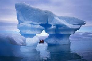 Sculpted Iceberg, Spitsbergen, Svalbard Archipelago, Norway, Scandinavia, Europe by Geoff Renner