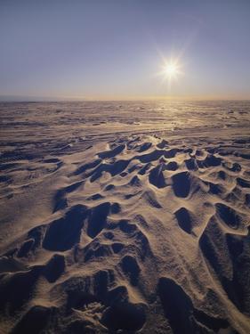 Sun on a Snowy Plateau, Antartica by Geoff Renner