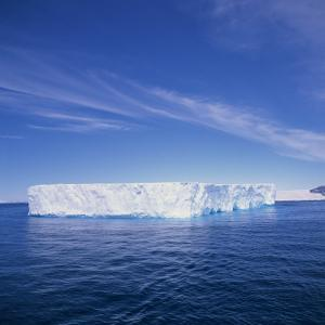 Tabular Iceberg in Blue Sea in Antarctica, Polar Regions by Geoff Renner