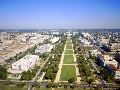 Washington Mall and Capitol Building from the Washington Monument, Washington DC, USA
