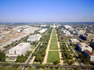 Washington Mall and Capitol Building from the Washington Monument, Washington DC, USA by Geoff Renner