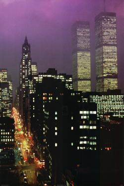 Geoffrey Clifford Purple Skies WTC Art Print Poster