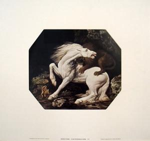 A Lion Devouring a Horse by Geore Stubbs