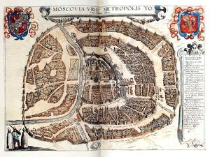 Map of Moscow, 1572 by Georg Braun