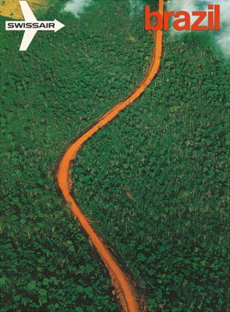 Mato Grosso, Brazil - Aerial view of the Brazilian Rain Forest - Swissair by Georg Gerster