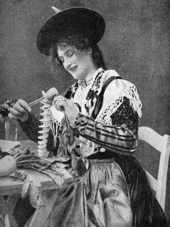 A Woman Creatively Peeling a Potato, 1922