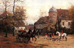 Arriving for the Hunt by Georg Karl Koch
