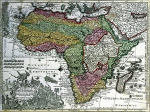 Map of Africa, from 'Atlas Minor', Published in Augsburg, First Half of Eighteenth Century by Georg Matthäus Seutter