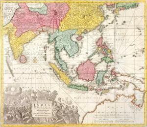 India Orientalis, Adjacentius Insulis, c1740 by Georg Matthaus Seutter