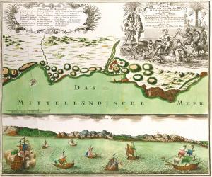 Oran, 1740 by Georg Matthaus Seutter