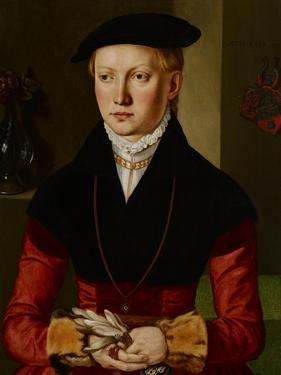 Portrait of a Girl, C.1545 by Georg Pencz