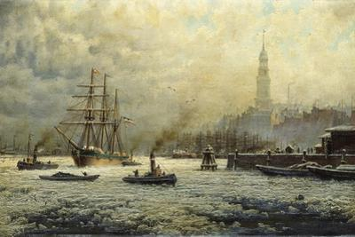 The Port of Hamburg, 1893 by Georg Schmitz