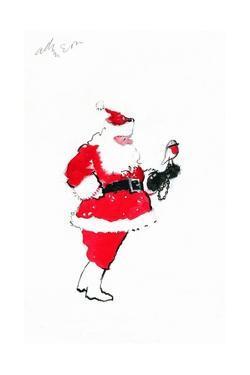 Santa Robin-Falconry by George Adamson