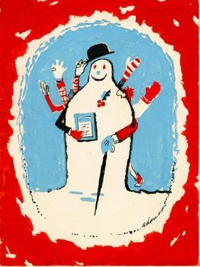 Snowman with Many Arms, 1970s by George Adamson
