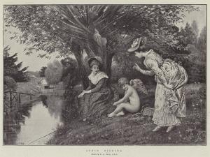 Cupid Fishing by George Adolphus Storey