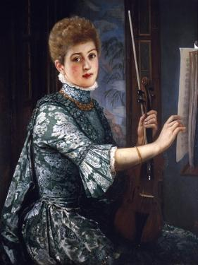 The Violinist, 1886 by George Adolphus Storey