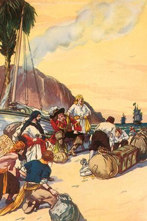 Morgan Dividing The Treasure Taken At Maraciabo