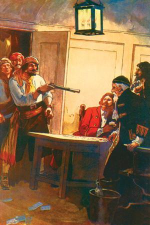 Pierre Le Grand Commanding The Spanish Captain to Surrender The Ship