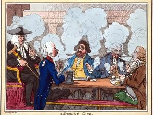Smoking Club, 18th Century Artwork by George Arents