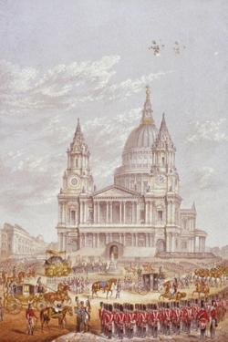 Funeral of the Duke of Wellington, St Paul's Cathedral, City of London, 18 November, 1852 by George Baxter