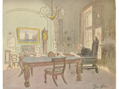 'Lloyd's Committee Room - As Seen By A Punch Artist, 1927', (1928)