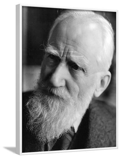 George Bernard Shaw--Framed Photographic Print