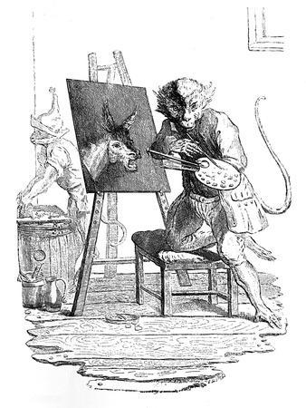 An Ape Painting an Ass, 1753