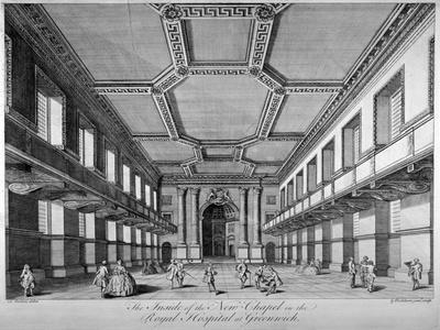 Interior View of the New Chapel, Royal Naval Hospital, Greenwich, London, C1790