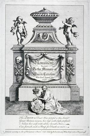 Monument to Queen Caroline, Consort of George II, Westminster Abbey, London, 1737